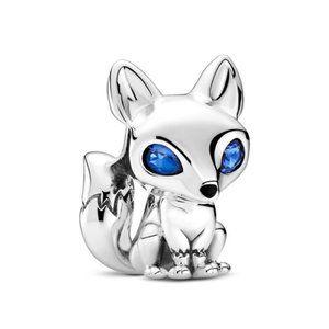 New Authentic Pandora Silver Blue-Eyed Fox Charm